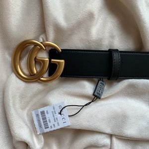 `New Gucci Belt Aùthèntic Double G Marmot GG